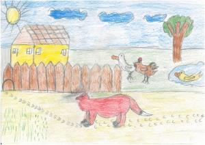 Mráz Erzsébet Irma - Ha a róka erre jár - Péter Sándor rajza